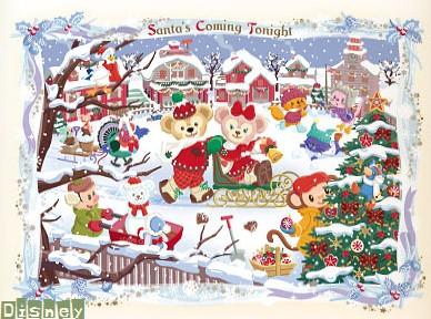 ディズニー Tds ダッフィーのクリスマス Santa S Coming Tonight Work Out
